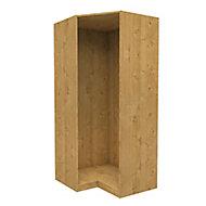 Form Darwin Modular Oak effect Corner cabinet (H)2004mm (W)998mm (D)854mm