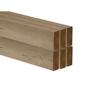 Smooth Planed Round edge Redwood C16 CLS timber (L)2.4m (W)89mm (T)38mm, Pack of 6