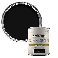 Colours Quick dry Black Eggshell Metal & wood paint, 0.75L