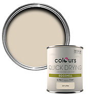 Colours Quick dry Soft coffee Eggshell Wood & metal paint 750 ml