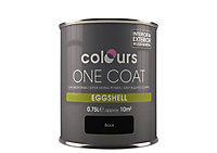 Colours One coat Black Eggshell Metal & wood paint, 0.75L