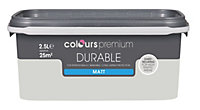 Colours Durable Grey hints Matt Emulsion paint 2.5L