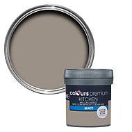 Colours Kitchen Taupe Matt Emulsion paint 0.05L Tester pot