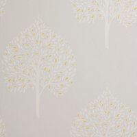 Colours Rowan French grey Tree Mica effect Smooth Wallpaper