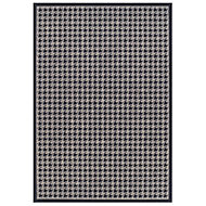Colours Amara Houndstooth Black & grey Rug (L)1.6m (W)1.2m