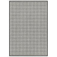 Colours Amara Houndstooth Beige & grey Rug (L)1.6m (W)1.2m