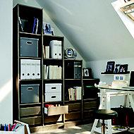 Form Perkin Grey oak effect Study room Storage kit (H)2008mm (W)1600mm (D)400mm