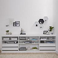Form Perkin White Bedroom Storage kit (H)856mm (W)2600mm (D)480mm