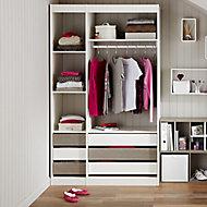 Form Perkin White & grey oak effect Wardrobe Bedroom Storage kit (H)2008mm (W)1200mm (D)480mm