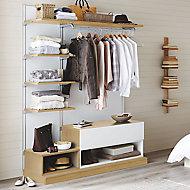Form Oppen White oak effect Bedroom Internal Storage kit (H)2000mm (W)1450mm (D)548mm