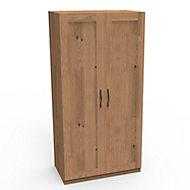 Darwin Oak effect Double Wardrobe (H)2004mm (W)1000mm (D)566mm