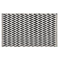 Colours Haillie Black & white Chevron Cotton Door mat (L)750mm (W)450mm