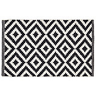 Colours Harrieta Diamond Black & white Cotton Door mat (L)0.75m (W)0.45m