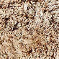 Colours Imlu Sheepskin Cappuccino Rug (L)0.9m (W)0.6m