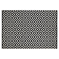 Colours Harrieta Geometric Black & white Rug (L)1.7m (W)1.2m