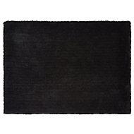 Colours Oriana Plain Black Rug (L)1.7m (W)1.2m