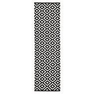 Colours Harrieta Geometric Black & white Runner (L)2m (W)0.6m