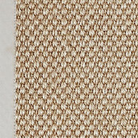 Colours Fabianna Flatweave with cotton border Natural Runner (L)2m (W)0.6m