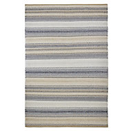 Colours Violette Striped Blue & taupe Rug (L)1.7m (W)1.2m