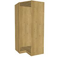 Form Darwin Modular Oak effect Corner cabinet (H)2356mm (W)998mm (D)662mm