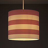 Kids Colours Little candy stripe Pink & white Light shade (D)250mm