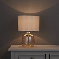 Alphie Matt Champagne LED Table lamp
