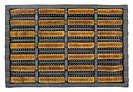 Diall Black & natural Butler Coir Door mat (L)600mm (W)400mm