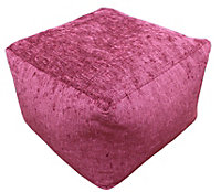 Elite Plain Wine Bean bag cube