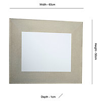 Colours Lucina Glitter effect Rectangular Frameless Unframed mirror (H)600mm (W)500mm