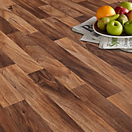 Colours Arezzo Natural Walnut effect Vinyl flooring, 6m²