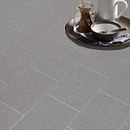 Colours Monzen Grey Tile effect Vinyl flooring, 4m²
