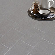 Colours Monzen Grey Tile effect Vinyl flooring, 6m²