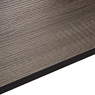 12.5mm Topia Dark wood effect Laminate Square edge Kitchen Worktop, (L)3020mm