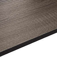 12.5mm Topia Dark wood effect Laminate Square edge Kitchen Breakfast bar Worktop, (L)3020mm
