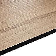 12.5mm Exilis Pyla Wood effect Square edge Laminate Internal curve worktop (L)0.95m (D)950mm