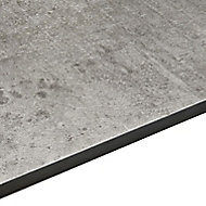 12.5mm Exilis Woodstone Grey Stone Effect Square edge Laminate Worktop (L)3.02m (D)610mm