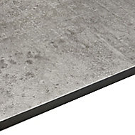 12.5mm Exilis Woodstone Grey Stone Effect Square edge Laminate Breakfast bar (L)3.02m (D)950mm