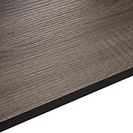 12.5mm Exilis Topia Wood effect Square edge Laminate Worktop (L)2.4m (D)425mm