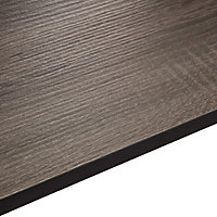 12.5mm Exilis Topia Natural Wood effect Square edge Laminate Vanity worktop (L)1.5m (D)425mm