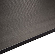 12.5mm Exilis Brasero black Wood effect Square edge Laminate Worktop (L)2.4m (D)425mm