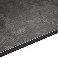 12.5mm Exilis Lave black Granite effect Square edge Laminate Worktop (L)2.4m (D)425mm