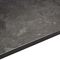 12.5mm Exilis Lave black Granite effect Square edge Laminate Worktop (L)1.5m (D)425mm