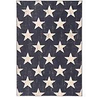 Colours Gianna Vintage star Blue Rug (L)1.7m (W)1.2m