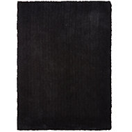 Colours Oriana Plain Black Rug (L)2.3m (W)1.6m