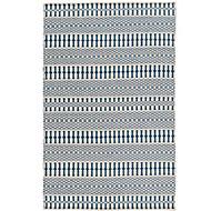 Colours Etta Striped Blue & white Rug (L)1.7m (W)1.2m