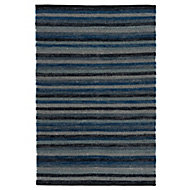 Colours Kaia Striped Black & blue Rug (L)1.7m (W)1.2m