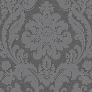 Colours Zara Charcoal Glitter Wallpaper