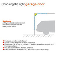 Ribbed Made to measure Framed White Sectional Garage door