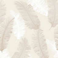 Colours Umali Brown & taupe Feather Glitter Wallpaper