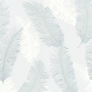 Colours Umali Duck egg Feather Glitter Wallpaper